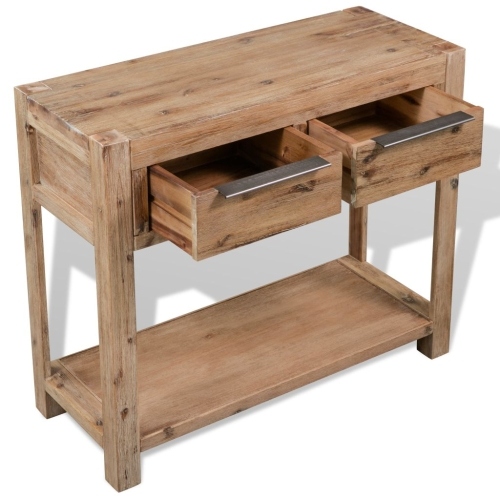 Console Table Solid Acacia Wood 73x33x83 cmHome &amp; Garden<br>Console Table Solid Acacia Wood 73x33x83 cm<br>