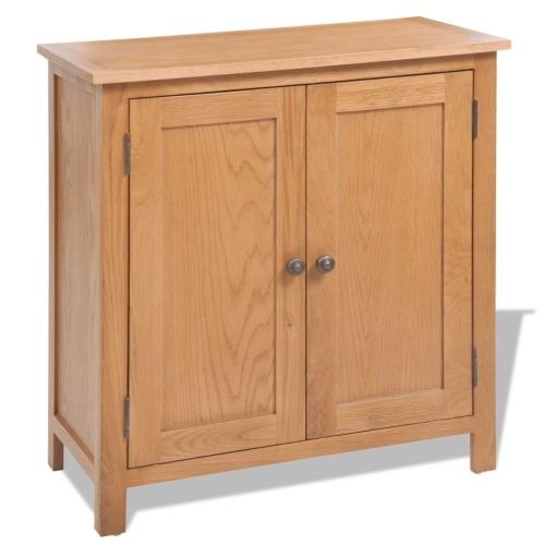 Sideboard Solid Oak 70x35x75 cm Brown