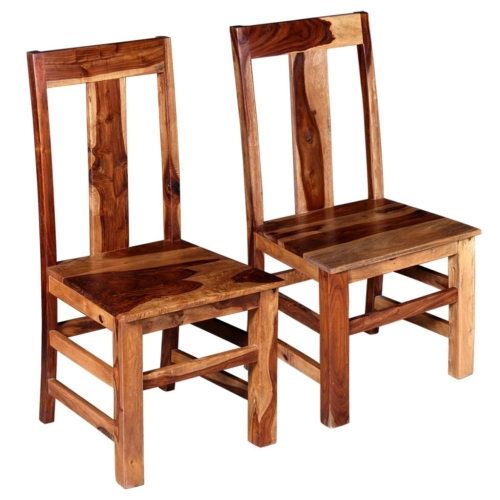 Dining Chairs 2 pcs Solid Sheesham WoodHome &amp; Garden<br>Dining Chairs 2 pcs Solid Sheesham Wood<br>