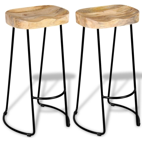 Gavin Bar Stools 2 pcs Solid Mango WoodHome &amp; Garden<br>Gavin Bar Stools 2 pcs Solid Mango Wood<br>