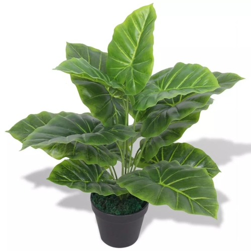 Artificial Taro Plant with Pot 45 cm GreenHome &amp; Garden<br>Artificial Taro Plant with Pot 45 cm Green<br>