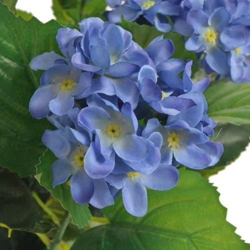 Artificial Hydrangea Plant with Pot 60 cm BlueHome &amp; Garden<br>Artificial Hydrangea Plant with Pot 60 cm Blue<br>