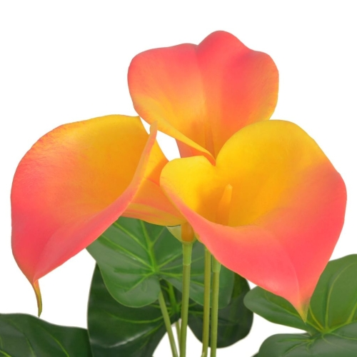 Artificial Calla Lily Plant with Pot 45 cm Red and YellowHome &amp; Garden<br>Artificial Calla Lily Plant with Pot 45 cm Red and Yellow<br>
