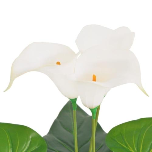 Artificial Calla Lily Plant with Pot 45 cm WhiteHome &amp; Garden<br>Artificial Calla Lily Plant with Pot 45 cm White<br>
