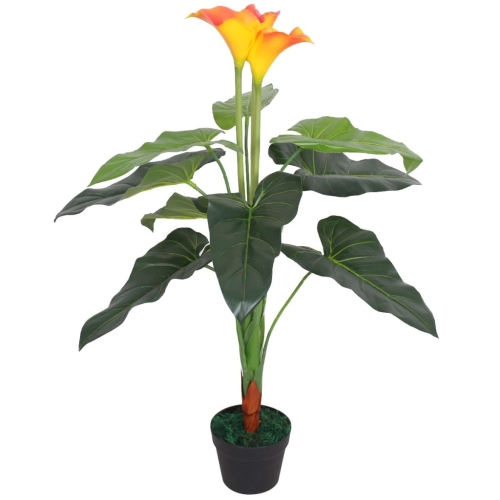Artificial Calla Lily Plant with Pot 85 cm Red and YellowHome &amp; Garden<br>Artificial Calla Lily Plant with Pot 85 cm Red and Yellow<br>