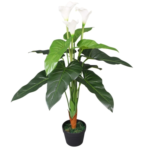 Artificial Calla Lily Plant with Pot 85 cm WhiteHome &amp; Garden<br>Artificial Calla Lily Plant with Pot 85 cm White<br>