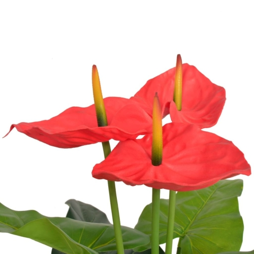 Artificial Anthurium Plant with Pot 90 cm Red and YellowHome &amp; Garden<br>Artificial Anthurium Plant with Pot 90 cm Red and Yellow<br>