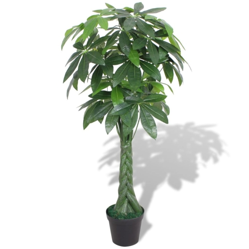 Artificial Fortune Tree Plant with Pot 145 cm GreenHome &amp; Garden<br>Artificial Fortune Tree Plant with Pot 145 cm Green<br>