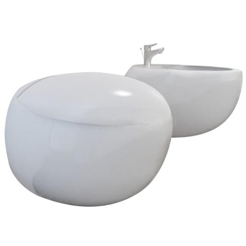 Wand-H?nge WC Toilette +H?nge Bidet+ SoftClose Wei?Home &amp; Garden<br>Wand-H?nge WC Toilette +H?nge Bidet+ SoftClose Wei?<br>
