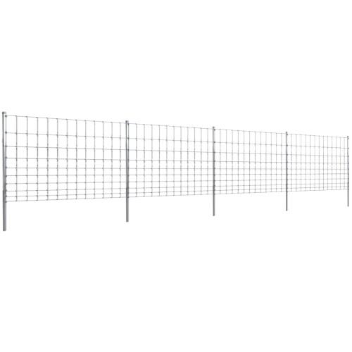 50m Gartenzaun Wildzaun verzinkt mit Pfosten 120/10/30Home &amp; Garden<br>50m Gartenzaun Wildzaun verzinkt mit Pfosten 120/10/30<br>