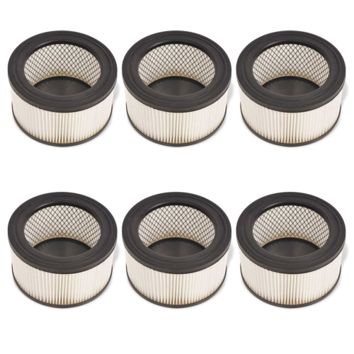 HEPA Filters for Ash Vacuum Cleaner 6 pcs White and Black (2x142358)Home &amp; Garden<br>HEPA Filters for Ash Vacuum Cleaner 6 pcs White and Black (2x142358)<br>
