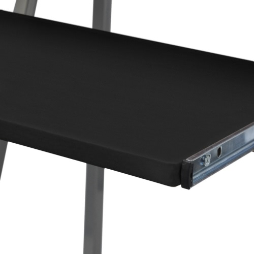 Computer Desk With Pull Out Keyboard Tray BlackHome &amp; Garden<br>Computer Desk With Pull Out Keyboard Tray Black<br>