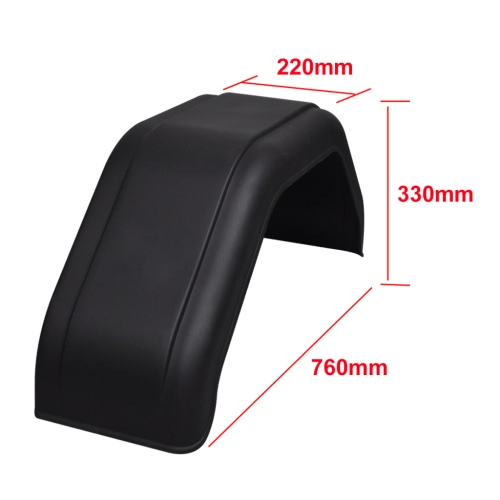 2x Mudguard for Trailer Wheels 220 x 760 mmCar Accessories<br>2x Mudguard for Trailer Wheels 220 x 760 mm<br>