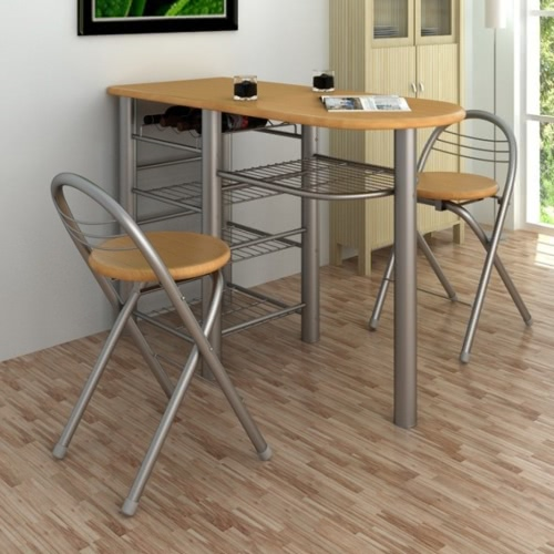 Kitchen / Breakfast Bar / Table and Chairs Set WoodHome &amp; Garden<br>Kitchen / Breakfast Bar / Table and Chairs Set Wood<br>