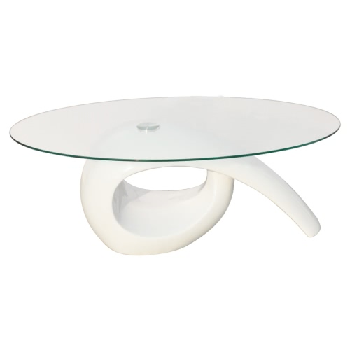 Glass Top Coffee Table High Gloss WhiteHome &amp; Garden<br>Glass Top Coffee Table High Gloss White<br>