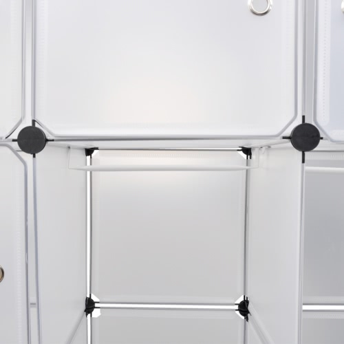 Modular Cabinet with 14 Compartments White 37 x 150 x 190 cmHome &amp; Garden<br>Modular Cabinet with 14 Compartments White 37 x 150 x 190 cm<br>