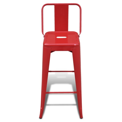 Bar Chair High Chairs Bar Stools Square 2 pcs Back RedHome &amp; Garden<br>Bar Chair High Chairs Bar Stools Square 2 pcs Back Red<br>