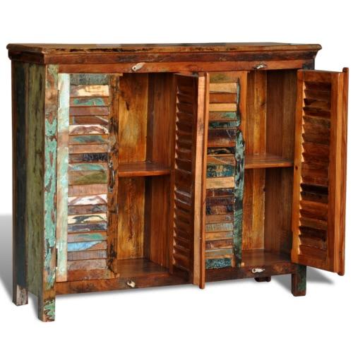 Reclaimed Wood Cupboard Cabinet Shades Sideboard 4 DoorsHome &amp; Garden<br>Reclaimed Wood Cupboard Cabinet Shades Sideboard 4 Doors<br>