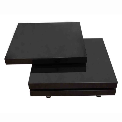 Coffee Table 3 Layers Black High GlossHome &amp; Garden<br>Coffee Table 3 Layers Black High Gloss<br>