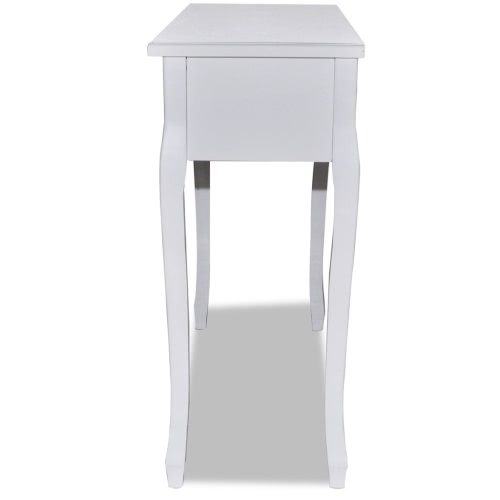 White Dressing Console Table with Three DrawersHome &amp; Garden<br>White Dressing Console Table with Three Drawers<br>