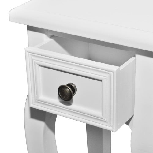 White Telephone Side Table with Drawer 2 SizesHome &amp; Garden<br>White Telephone Side Table with Drawer 2 Sizes<br>