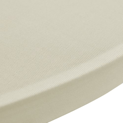 Standing Table Cover ?70cm Cream Stretch 2 pcsHome &amp; Garden<br>Standing Table Cover ?70cm Cream Stretch 2 pcs<br>