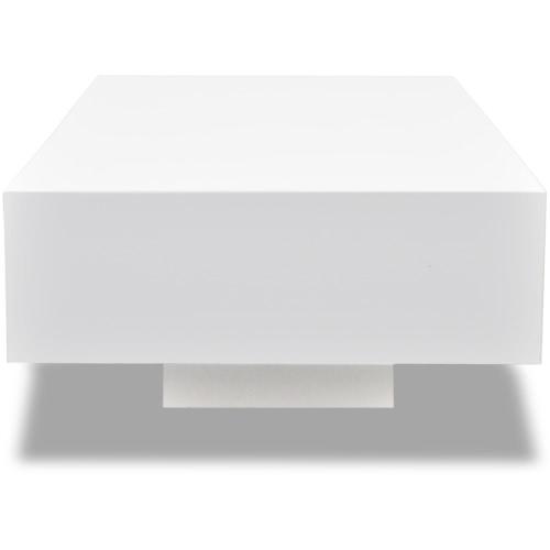 White High Gloss Coffee Table 115 cmHome &amp; Garden<br>White High Gloss Coffee Table 115 cm<br>