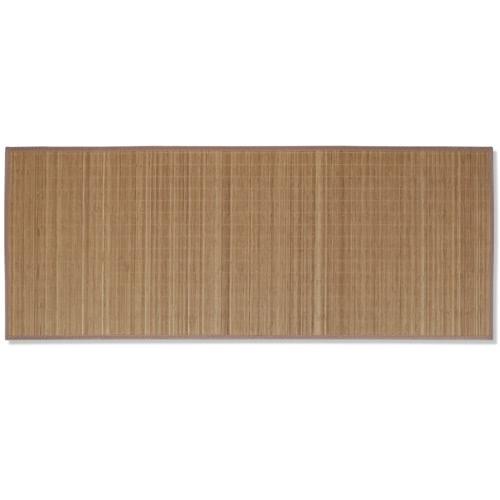 Rectangular Brown Bamboo Rug 80 x 300 cmHome &amp; Garden<br>Rectangular Brown Bamboo Rug 80 x 300 cm<br>