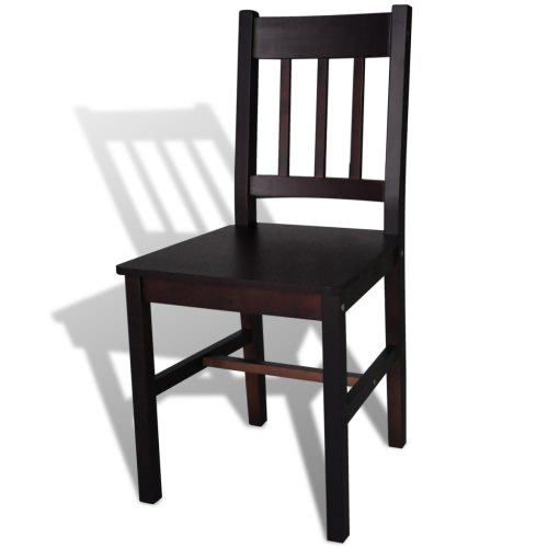 2 pcs Brown Wood Dining ChairHome &amp; Garden<br>2 pcs Brown Wood Dining Chair<br>