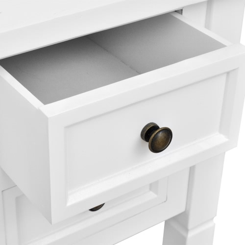 White Writing Desk with 5 DrawersHome &amp; Garden<br>White Writing Desk with 5 Drawers<br>