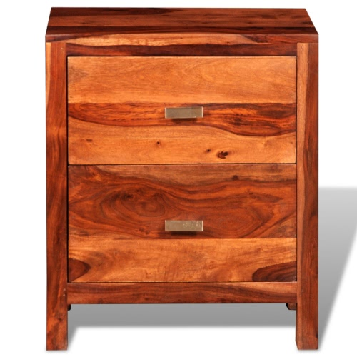 Sheesham Solid Wood Bedside Cabinet with 2 DrawersHome &amp; Garden<br>Sheesham Solid Wood Bedside Cabinet with 2 Drawers<br>