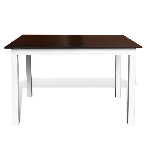 Solid Wood Brown White Dining Table 110 cmHome &amp; Garden<br>Solid Wood Brown White Dining Table 110 cm<br>