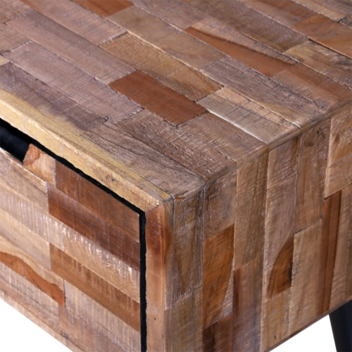Console TV Cabinet with 4 Drawers Reclaimed TeakHome &amp; Garden<br>Console TV Cabinet with 4 Drawers Reclaimed Teak<br>