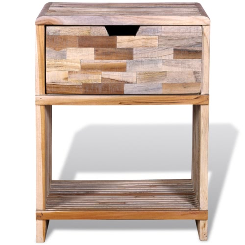 Bedside Cabinet with Drawer Reclaimed TeakHome &amp; Garden<br>Bedside Cabinet with Drawer Reclaimed Teak<br>