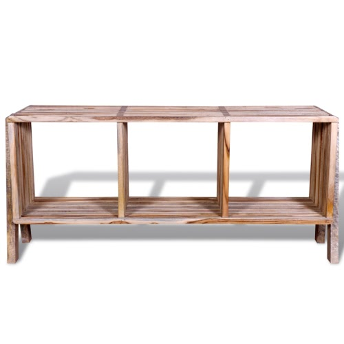 TV Cabinet with 3 Shelves Stackable Reclaimed TeakHome &amp; Garden<br>TV Cabinet with 3 Shelves Stackable Reclaimed Teak<br>