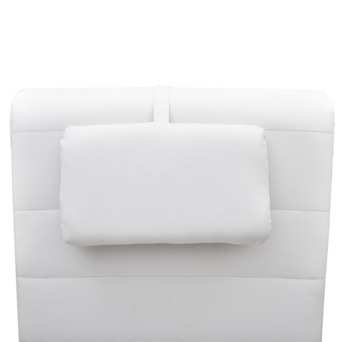 White Artificial Leather Chaise Longue with PillowHome &amp; Garden<br>White Artificial Leather Chaise Longue with Pillow<br>