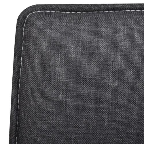 Dining Chair Set Dark Grey Fabric 4 pcsHome &amp; Garden<br>Dining Chair Set Dark Grey Fabric 4 pcs<br>