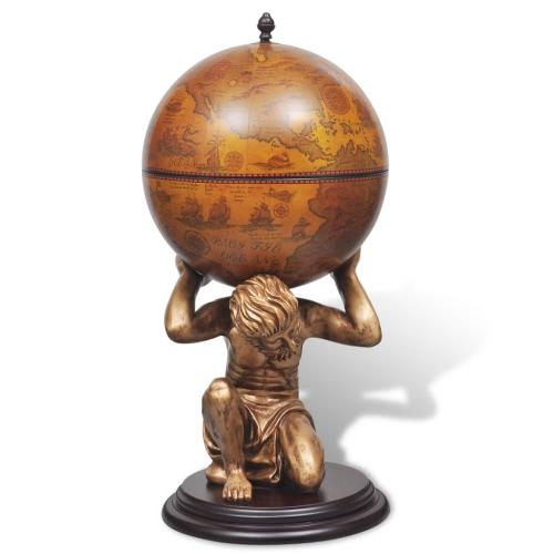 Globe Bar/Wine Cabinet Atlas 42 x 42 x 85 cmHome &amp; Garden<br>Globe Bar/Wine Cabinet Atlas 42 x 42 x 85 cm<br>