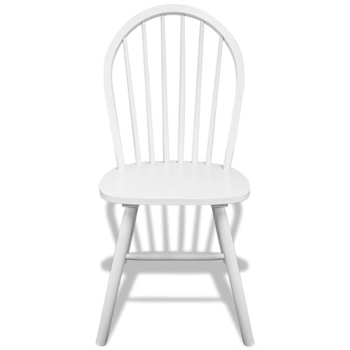 4 Wooden Dining Chairs Round WhiteHome &amp; Garden<br>4 Wooden Dining Chairs Round White<br>