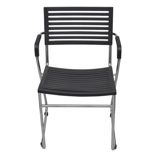 Black Stackable Arm Chair 24 pcsHome &amp; Garden<br>Black Stackable Arm Chair 24 pcs<br>