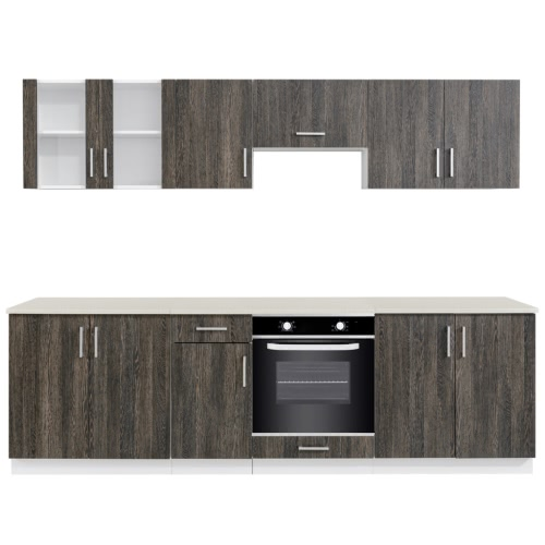 Wenge Look Kitchen Cabinet Unit with Built-in Oven 6 FunctionsHome &amp; Garden<br>Wenge Look Kitchen Cabinet Unit with Built-in Oven 6 Functions<br>