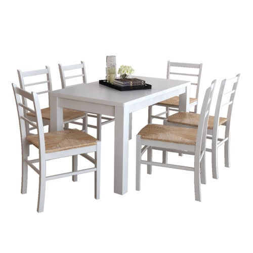 6 pcs White Paint Wooden Dinning ChairHome &amp; Garden<br>6 pcs White Paint Wooden Dinning Chair<br>