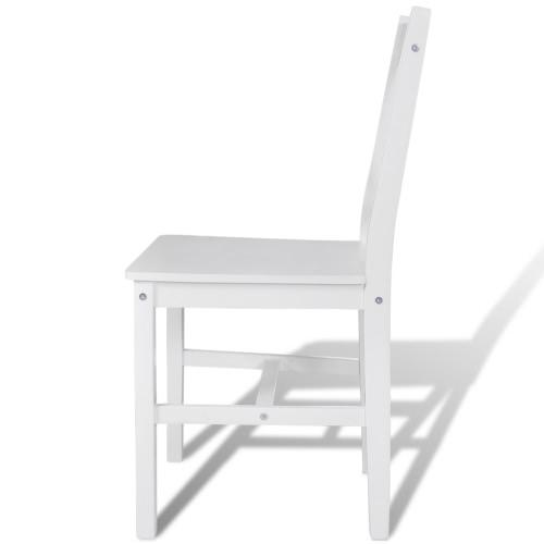 6 pcs White Wood Dinning ChairHome &amp; Garden<br>6 pcs White Wood Dinning Chair<br>