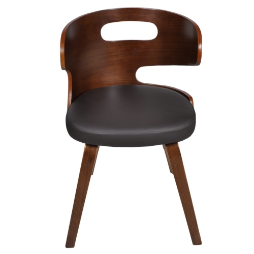 Set of 6 Dining Chairs with Cut-out Bentwood BackrestHome &amp; Garden<br>Set of 6 Dining Chairs with Cut-out Bentwood Backrest<br>