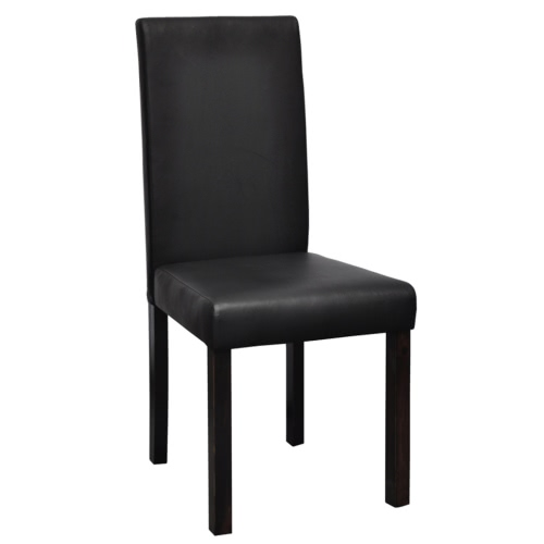6 pcs Artificial Leather Wood Black Dining ChairHome &amp; Garden<br>6 pcs Artificial Leather Wood Black Dining Chair<br>