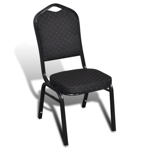 Table chair Padded Black Stackable 20 pcsHome &amp; Garden<br>Table chair Padded Black Stackable 20 pcs<br>