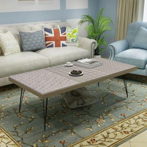 Coffee Table 120x60x38 cm Gray