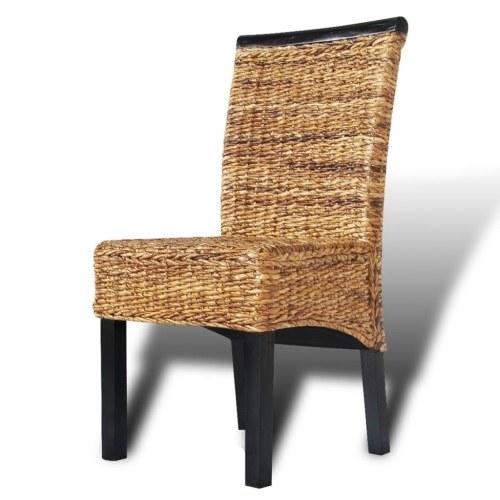 Cadeiras de sala de jantar 6 pcs em Brown Abaca