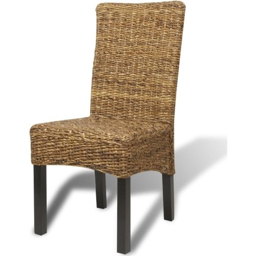 Sala de Jantar Cadeiras 4 pcs em Brown Abaca