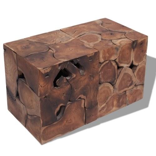 Stools / Coffee Table Solid Wood Tek 2Pcs
